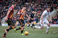 Josh Cullen (Bradford City) runs into the box during the EFL Sky Bet League 1 match between Bradford City and Bolton Wanderers at the Coral Windows Stadium, Bradford, England on 18 February 2017. Photo by Mark P Doherty.