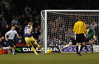 Photo: Kevin Poolman.<br />Luton Town v Derby County. Coca Cola Championship. 18/11/2006. Jonathon Stead of Derby hits home their first goal.