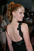 Rebecca Mader posing before entering the 'The Devil Wears Prada' premiere at the AMC LOEWS in Lincoln Square, New York, USA, on Monday, June 20, 2006. She is part of the cast. **ITALY OUT**