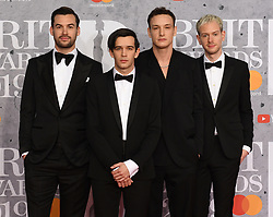 February 21, 2019 - London, London, United Kingdom - Image licensed to i-Images Picture Agency. 20/02/2019. London, United Kingdom.  The 1975  at the Brit Awards in London. (Credit Image: © i-Images via ZUMA Press)