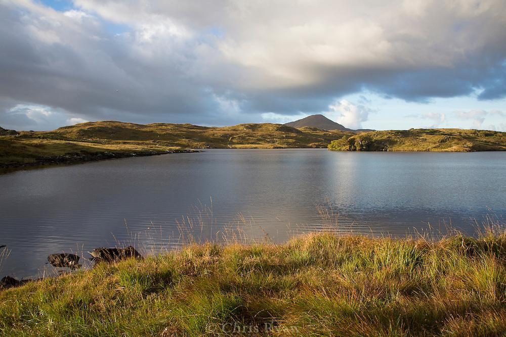 Lake and distant peak, Connemara