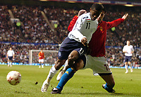 Photo: Paul Greenwood.<br />England v Spain. International Friendly. 07/02/2007. Spains  Joan Capdevila clears the danger from Shaun Wright Phillips .