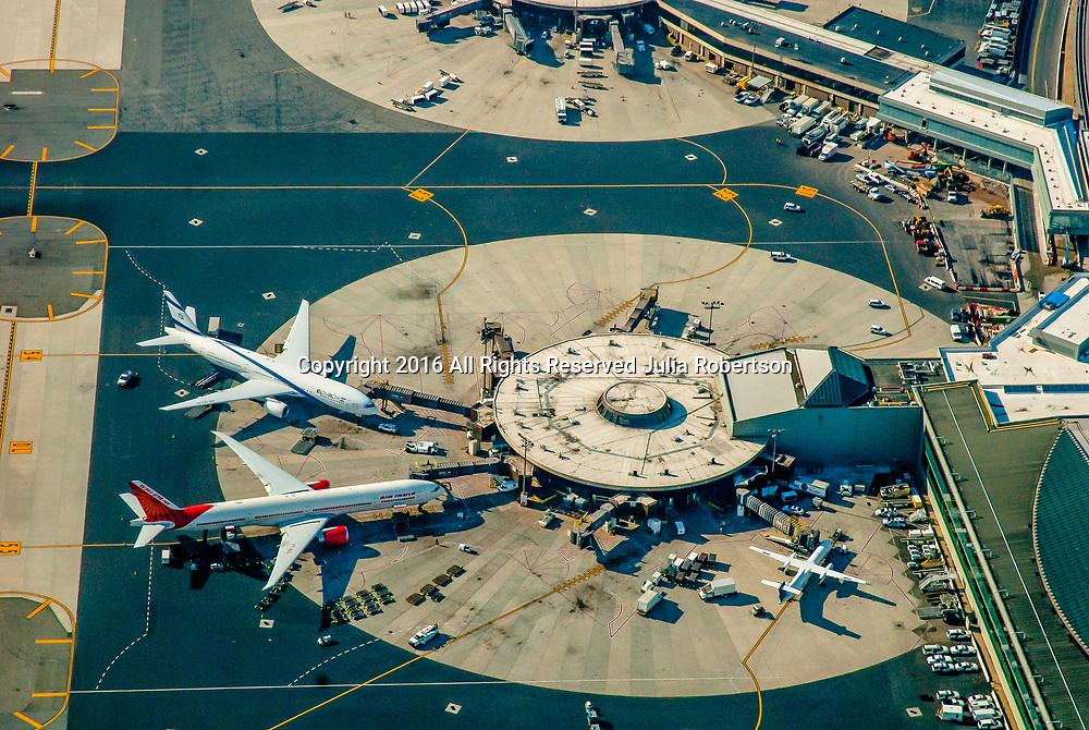 Aerial view of Newark International Airport