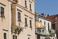 Wawel Cathedral and Golden Sigismund's Chapel in Krakow Poland