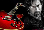Guitarist Craig Thatcher poses with his Gibson ES-345 guitar.<br /> - Photography by Donna Fisher<br /> - ©2020 - Donna Fisher Photography, LLC <br /> - donnafisherphoto.com