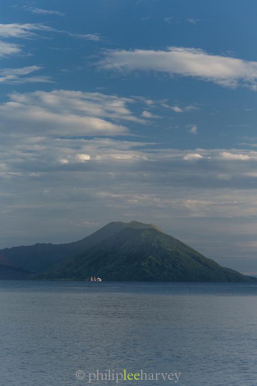 Tavurvur volcano viewed from, Kokopo Beach Bungalo Resort,  East New Britain, Papua New Guinea