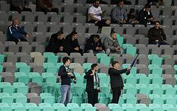 Supporters of Olimpija during football match between NK Olimpija and NK CB24 Tabor Sezana in 35th Round of Prva liga Telekom Slovenije 2020/21, on May 19, 2021 in SRC Stozice, Ljubljana, Slovenia. Photo by Vid Ponikvar / Sportida