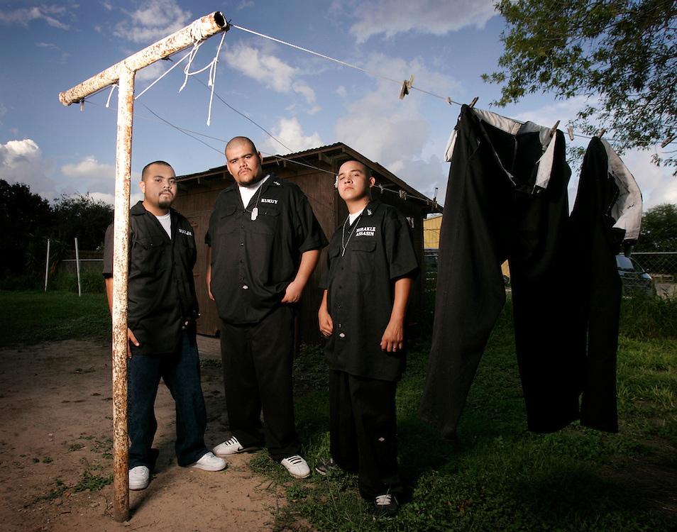 """Soulja (left), Kukuy, and Mirakle Assassin are Lost Souls, a Mission rap group that rhymes about the drug dealing and violence that they grew up in, and grew out of.  Their debut album """"Your Entertainment, Our Reality"""" was released in 2007."""