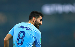 """Manchester City's Ilkay Gundogan during the Carabao Cup, Fourth Round match at the Etihad Stadium, Manchester. PRESS ASSOCIATION Photo. Picture date: Tuesday October 24, 2017. See PA story SOCCER Man City. Photo credit should read: Tim Goode/PA Wire. RESTRICTIONS: EDITORIAL USE ONLY No use with unauthorised audio, video, data, fixture lists, club/league logos or """"live"""" services. Online in-match use limited to 75 images, no video emulation. No use in betting, games or single club/league/player publications."""