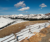 Fence in Rocky Mountain National Park. Image taken with a Nikon D200 and 14 mm f/2.8 lens (ISO 100, 14 mm, f/11, 1/250 sec).
