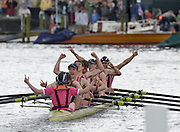 Henley, GREAT BRITAIN,  Abingdon School,  celebrate winning the Princess Elizabeth Challenge Cup at 2012 Henley Royal Regatta. 2012 Henley Royal Regatta. ..Sunday  14:58:25  01/07/2012. [Mandatory Credit, Peter Spurrier/Intersport-images]...Rowing Courses, Henley Reach, Henley, ENGLAND . HRR.