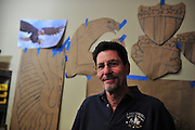 Artist Mike Schaefer poses for a portrait in his home studio in McKinney on Wednesday, March 27, 2013. (Cooper Neill/The Dallas Morning News)