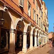Shopping Arcades of Corfu Old Town, Greek Ionian Islands