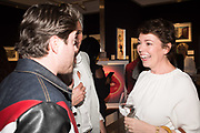 KYLE JAMES, OLIVIA COLEMAN, Preview evening  in support of The Eve Appeal, a charity dedicated to protecting women from gynaecological cancers. Bonhams Knightsbridge, Montpelier St. London. 29 April 2019