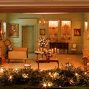 A scale model of the real White House is on display at the Reagan Library in Simi Valley, California. This is the Vermeil Room.