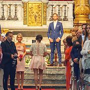 NLD/Amsterdam/20150620 - Huwelijk Kimberly Klaver en Bas Schothorst, Bas Schothorst in de kerk