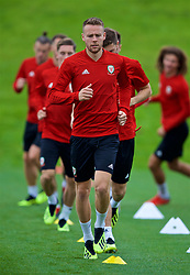 CARDIFF, WALES - Tuesday, September 4, 2018: Wales' Chris Gunter during a training session at the Vale Resort ahead of the UEFA Nations League Group Stage League B Group 4 match between Wales and Republic of Ireland. (Pic by David Rawcliffe/Propaganda)