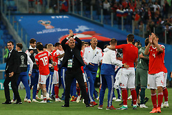 June 19, 2018 - SãO Petersburgo, Rússia - SÃO PETERSBURGO, MO - 19.06.2018: RUSSIA VS EGYPT - Stanislav Cherchesov applauds fans at the end of the match between Russia and Egypt valid for the 2018 World Cup held at Zenit Arena in St. Petersburg, Russia. (Credit Image: © Ricardo Moreira/Fotoarena via ZUMA Press)