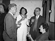 24/09/1958<br /> 09/24/1958<br /> 24 September 1958<br /> Opening of Le Pompadour Salon by the Lord Mayor of Dublin Catherine Byrne, for Mr. Victor Vinmar at 6 Upper Fitzwilliam Street, Dublin. Image shows people at the opening.