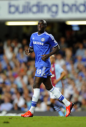 "Chelsea's Demba Ba  - Photo mandatory by-line: Joe Meredith/JMP - Tel: Mobile: 07966 386802 21/08/2013 - SPORT - FOOTBALL - Stamford Bridge - London - Chelsea V Aston Villa - Barclays Premier League - EDITORIAL USE ONLY. No use with unauthorised audio, video, data, fixture lists, club/league logos or ""live"" services. Online in-match use limited to 45 images, no video emulation. No use in betting, games or single club/league/player publications"