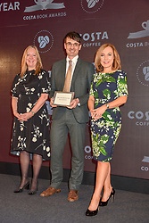 28 January 2020 - Jill Mcdonald, Jack Fairweather and Sian Williams at the Costa Book Awards 2019 held at Quaglino's, 16 Bury Street, London.<br /> <br /> Photo by Dominic O'Neill/Desmond O'Neill Features Ltd.  +44(0)1306 731608  www.donfeatures.com