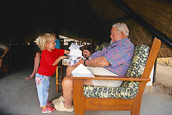 Owner Of Kalambeza Finots's Camp With Grand Daughter