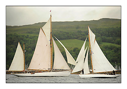Day one of the Fife Regatta, Round Cumbraes Race.<br /> <br /> Kentra, E & D Klaus, GBR, Gaff Ketch, Wm Fife 3rd, 1923<br /> Viola, Yvon Rautureau, FRA, Gaff Cutter, Wm Fife 3rd, 1908<br /> * The William Fife designed Yachts return to the birthplace of these historic yachts, the Scotland's pre-eminent yacht designer and builder for the 4th Fife Regatta on the Clyde 28th June–5th July 2013<br /> <br /> More information is available on the website: www.fiferegatta.com