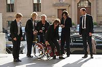 DEU, Deutschland, Germany, Berlin, 08.05.2015: Malu Dreyer (SPD), Ministerpräsidentin von Rheinland-Pfalz, trifft mit ihrer Staatsministerin Irene Alt (Bündnis 90/Die Grünen) zur Gedenkstunde zum 70. Jahrestag des Kriegsendes im Deutschen Bundestag ein.
