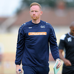 TELFORD COPYRIGHT MIKE SHERIDAN  Telford manager Gavin Cowan during the National League North fixture between Kettering Town and AFC Telford United at Latimer Park on Saturday, August 3, 2019<br /> <br /> Picture credit: Mike Sheridan<br /> MS201920-005