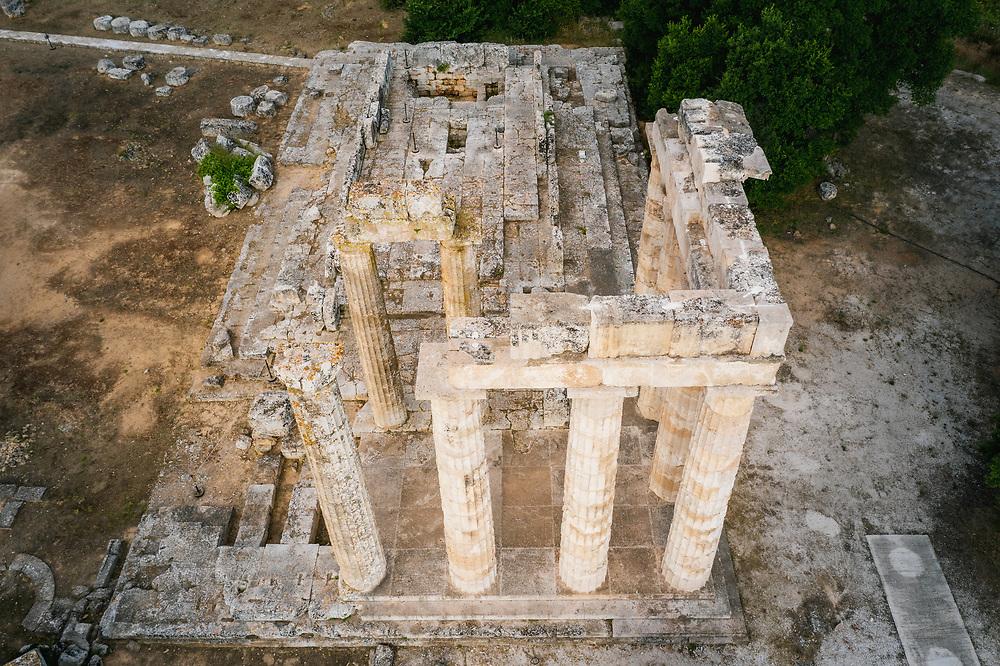 Temple of Zeus at Archaelogical site of Nemea, Greece