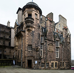 Exterior of The Writers' Museum in Edinburgh Old Town, Scotland, UK