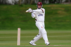 Somerset's Marcus Trescothick hits the ball of the bowling of Durham MCCU's Will Jenkins - Photo mandatory by-line: Harry Trump/JMP - Mobile: 07966 386802 - 02/04/15 - SPORT - CRICKET - Pre Season Fixture - Day One - Somerset v Durham MCCU - Taunton Vale Cricket Ground, Somerset, England.