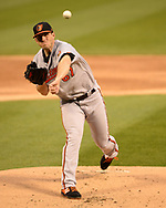 CHICAGO - APRIL 29:  John Means #67 of the Baltimore Orioles pitches against the Chicago White Sox on April 29, 2019 at Guaranteed Rate Field in Chicago, Illinois.  (Photo by Ron Vesely)  Subject:   John Means