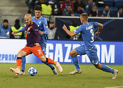 October 2, 2018 - Sinsheim, Germany - David Silva 21; seen in action during the UEFA Champions League group F football match between TSG 1899 Hoffenheim and Manchester City at the Rhein-Neckar-Arena. (Credit Image: © Elyxandro Cegarra/SOPA Images via ZUMA Wire)