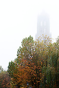 De Domtoren in de mist.<br /> <br /> The Dom tower seen in the fog.
