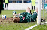Photo: Richard Lane/Richard Lane Photography. <br /> Colchester United v Coventry City. Coca Cola Championship. 19/04/2008. United's keeper, Dean Gerken shows his dejection after letting five goals.