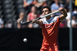 Glenn Schuurman of The Netherlands during the Champions Trophy finale between the Netherlands and Argentina on the fields of BH&BC Breda on Juli 1, 2018 in Breda, the Netherlands.