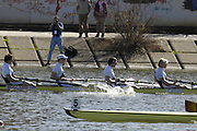 Seville. SPAIN, 18.02.2007, GBR M4- Bow Steve WILLIAMS, Peter REED, Matt LANDRIDGE and Andy TRIGGS HODGE, competing in Sundays final, at the FISA Team Cup, held on the River Guadalquiver course. [Photo Peter Spurrier/Intersport Images]    [Mandatory Credit, Peter Spurier/ Intersport Images]. , Rowing Course: Rio Guadalquiver Rowing Course, Seville, SPAIN,