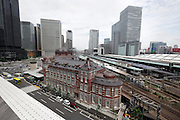 renovated Tokyo Station overhead view Japan