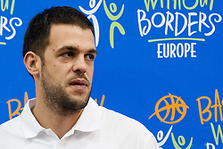 Zarko Cabarkapa of Serbia / Montenegro, played for Phoenix Suns and Golden State Warriors, at Basketball Without Borders for prospects under 17 with best coaches and some NBA legends on August 8, 2011, in Hala Tivoli, Ljubljana, Slovenia. (Photo by Matic Klansek Velej / Sportida)