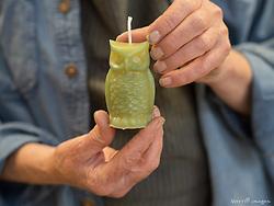 United States, Washington, Whidbey Island, Langely.  Candle workshop (Whidbey Wax Works)
