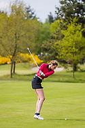 17-05-2015 NGF Competitie 2015, Hoofdklasse Heren - Dames Standaard - Finale, Golfsocieteit De Lage Vuursche, Den Dolder, Nederland. 17 mei. Dames Noordwijkse: Tessa de Bruijn tijdens de singles.