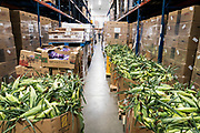 Boxes of corn are sorted in the refrigerated unit at Second Harvest Heartland Headquarters in Brooklyn Park, Minnesota. U.S., on Thursday, July 23, 2020. Photographer: Ben Brewer/Bloomberg