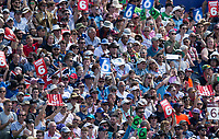 Cricket - 2019 ICC Cricket World Cup - Group Stage: England vs. NZ<br /> <br /> The crowd react after Jonny Bairstow of England hits for 6, at the Riverside, Chester-le-Street, Durham.<br /> <br /> COLORSPORT/BRUCE WHITE