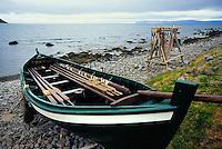 Fishing boat at Osvor Maritime Museum along the shores of Isafjordjup, Westfjords Iceland