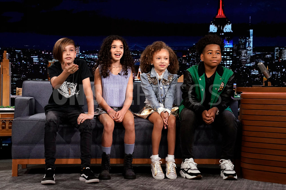 THE TONIGHT SHOW STARRING JIMMY FALLON -- Episode 1531 -- Pictured: The Kids Tonight Show Hosts during an interview on Thursday, October 7, 2021 -- (Photo by: Sean Gallagher/NBC)