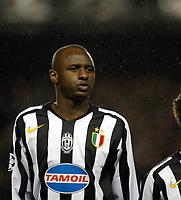 Photo: Chris Ratcliffe.<br /> Arsenal v Juventus. UEFA Champions League. Quarter-Finals. 28/03/2006.<br /> Patrick Vieira before the game