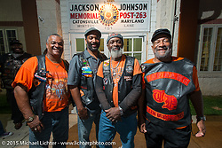 Top Dawg MC at a Club meetup at the American Legion in Catonsville, MD with the Flying Eagles MC (founded 1950). USA. August 16, 2015.  Photography ©2015 Michael Lichter.