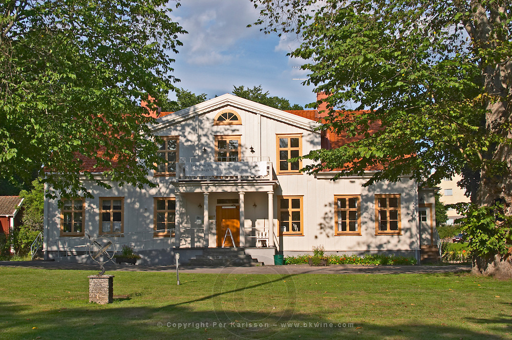 The parsonage at Nas in Vimmerby where the father of Astrid Lindgren was farming tenant. Nas. Vimmerby town Smaland region. Sweden, Europe.