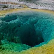 Morning Glory Pool in Old Faithful Geyser Basin. Yellowstone National Park